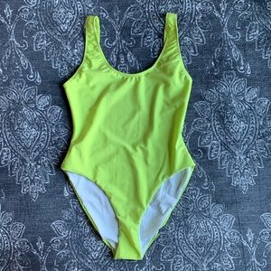 Onia Kelly Lime Green One Piece Swimsuit XL